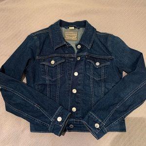Levi's trucker jacket in dark wash